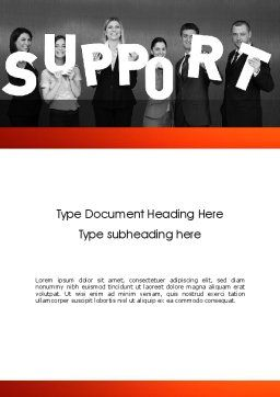 Support Groups Word Template Cover Page