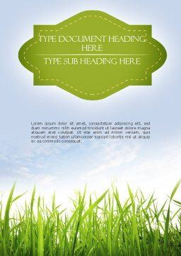 Nature Word Template, Cover Page, 11348, Nature & Environment — PoweredTemplate.com