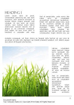 Nature Word Template, First Inner Page, 11348, Nature & Environment — PoweredTemplate.com