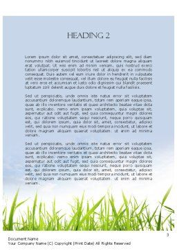 Nature Word Template, Second Inner Page, 11348, Nature & Environment — PoweredTemplate.com