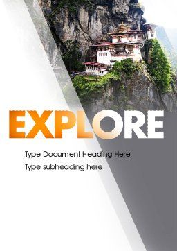 The Tiger's Nest Word Template, Cover Page, 11349, Flags/International — PoweredTemplate.com