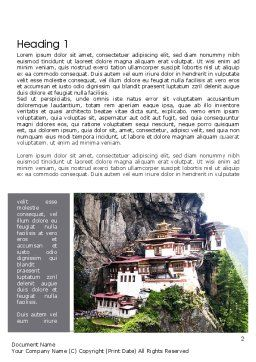 The Tiger's Nest Word Template, First Inner Page, 11349, Flags/International — PoweredTemplate.com