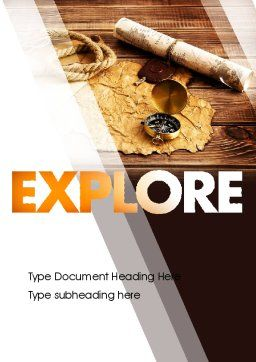 Explorer Theme Word Template Cover Page