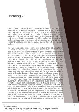 Explorer Theme Word Template Second Inner Page