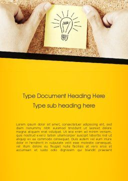 Idea Notes Word Template, Cover Page, 11356, Business Concepts — PoweredTemplate.com