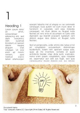 Idea Notes Word Template, First Inner Page, 11356, Business Concepts — PoweredTemplate.com