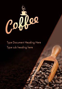 Roasted Coffee Beans Word Template, Cover Page, 11357, Food & Beverage — PoweredTemplate.com