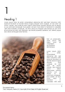 Roasted Coffee Beans Word Template, First Inner Page, 11357, Food & Beverage — PoweredTemplate.com