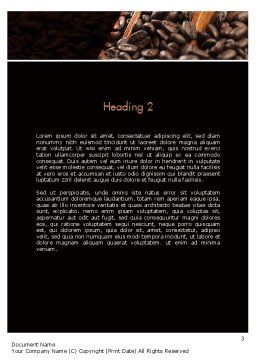 Roasted Coffee Beans Word Template, Second Inner Page, 11357, Food & Beverage — PoweredTemplate.com