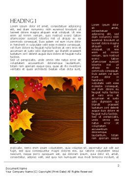 Fall Theme Word Template, First Inner Page, 11360, Nature & Environment — PoweredTemplate.com