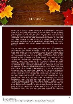 Fall Theme Word Template, Second Inner Page, 11360, Nature & Environment — PoweredTemplate.com
