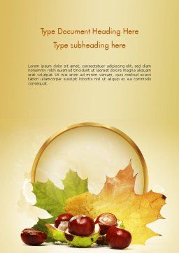 Chestnuts Word Template, Cover Page, 11361, Nature & Environment — PoweredTemplate.com
