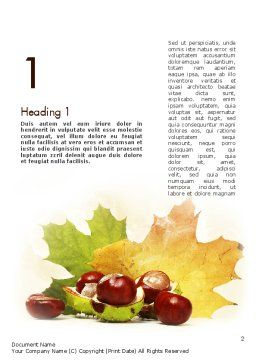 Chestnuts Word Template, First Inner Page, 11361, Nature & Environment — PoweredTemplate.com