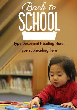 Child Care Word Template, Cover Page, 11362, Education & Training — PoweredTemplate.com