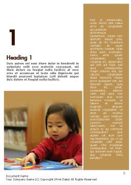 Child Care Word Template, First Inner Page, 11362, Education & Training — PoweredTemplate.com