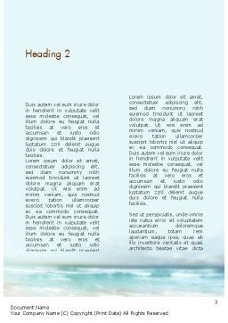 Shell On The Beach Word Template, Second Inner Page, 11365, Nature & Environment — PoweredTemplate.com