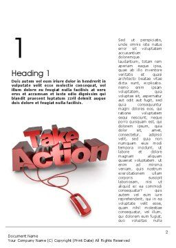 Take Action Word Template, First Inner Page, 11366, Careers/Industry — PoweredTemplate.com