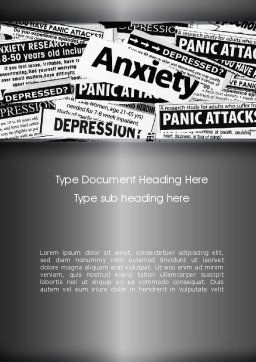 Mental Health Word Template, Cover Page, 11367, Medical — PoweredTemplate.com