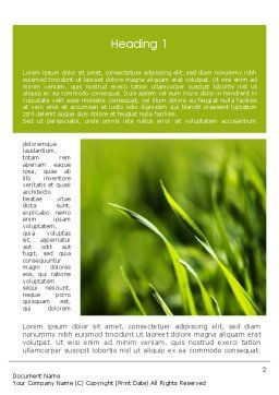 Green Grass Theme Word Template First Inner Page