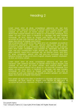 Green Grass Theme Word Template Second Inner Page