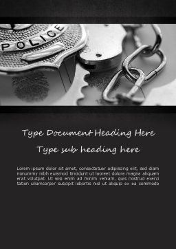 Criminal Justice Word Template, Cover Page, 11369, Legal — PoweredTemplate.com