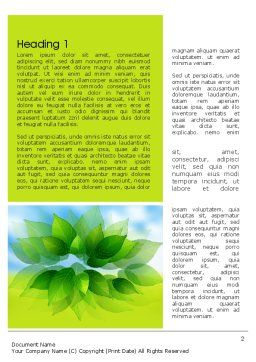 Bunch of Green Leaves Word Template First Inner Page