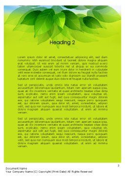 Bunch of Green Leaves Word Template Second Inner Page