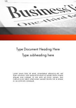 Breaking News Word Template, Cover Page, 11381, Careers/Industry — PoweredTemplate.com