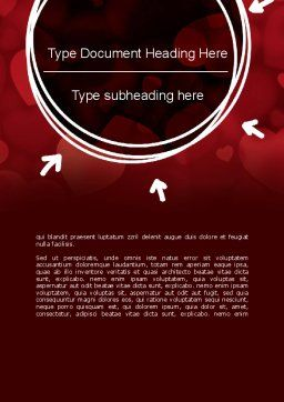 Hearts Background Word Template, Cover Page, 11384, Holiday/Special Occasion — PoweredTemplate.com