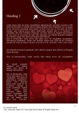 Hearts Background Word Template, First Inner Page, 11384, Holiday/Special Occasion — PoweredTemplate.com