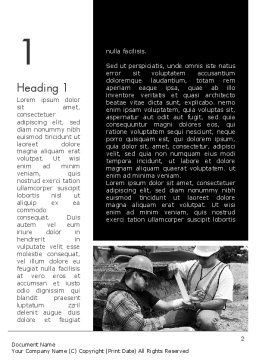 First Aid at Work Word Template, First Inner Page, 11385, Medical — PoweredTemplate.com