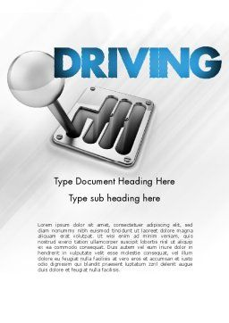 Gear Lever Word Template Cover Page