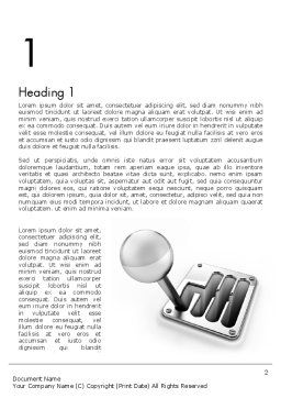 Gear Lever Word Template First Inner Page