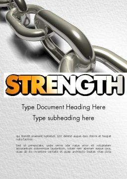Chain Links Word Template, Cover Page, 11391, Business Concepts — PoweredTemplate.com