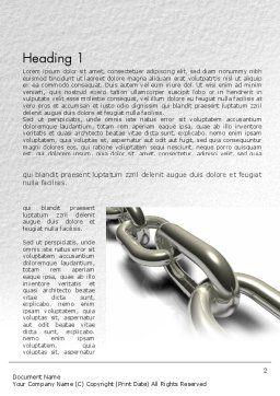 Chain Links Word Template, First Inner Page, 11391, Business Concepts — PoweredTemplate.com