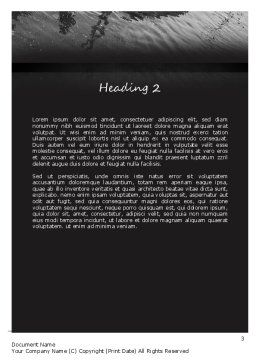 Car Flood Word Template, Second Inner Page, 11393, Cars/Transportation — PoweredTemplate.com