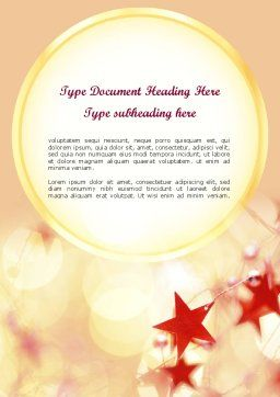 Festive Theme Word Template, Cover Page, 11394, Holiday/Special Occasion — PoweredTemplate.com