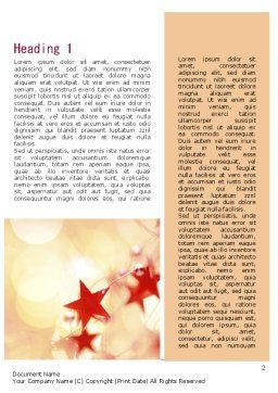 Festive Theme Word Template, First Inner Page, 11394, Holiday/Special Occasion — PoweredTemplate.com