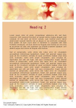 Festive Theme Word Template, Second Inner Page, 11394, Holiday/Special Occasion — PoweredTemplate.com