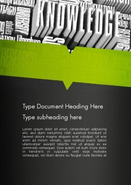 Components of Knowledge Word Template, Cover Page, 11396, Education & Training — PoweredTemplate.com