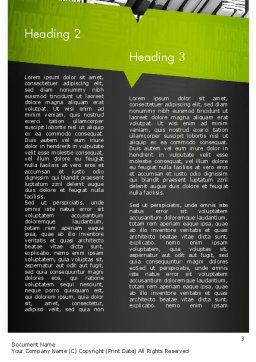 Components of Knowledge Word Template, Second Inner Page, 11396, Education & Training — PoweredTemplate.com