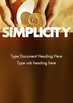 Nature Simplicity Word Template, Cover Page, 11397, Construction — PoweredTemplate.com