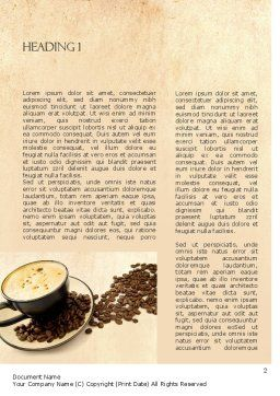 Mocha Coffee Flavor Word Template, First Inner Page, 11398, Food & Beverage — PoweredTemplate.com