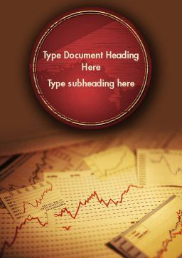Stock Broker Services Word Template, Cover Page, 11399, Consulting — PoweredTemplate.com