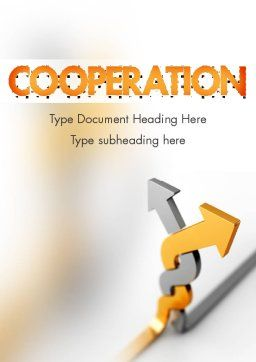 Work Together Word Template, Cover Page, 11400, Business Concepts — PoweredTemplate.com