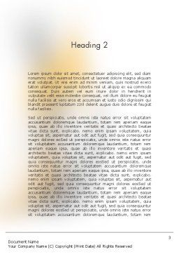Work Together Word Template, Second Inner Page, 11400, Business Concepts — PoweredTemplate.com