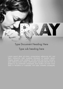 Women's Prayer Word Template Cover Page