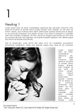 Women's Prayer Word Template First Inner Page