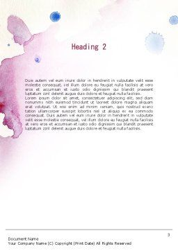 Watercolor Stains Word Template Second Inner Page
