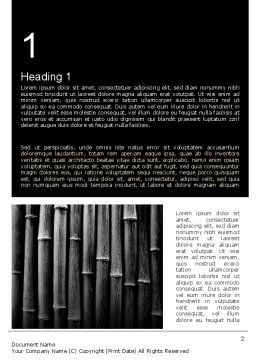Black Bamboo Word Template, First Inner Page, 11403, Nature & Environment — PoweredTemplate.com